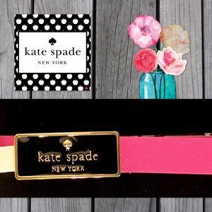 "Kate Spade Fuchsia ""in the loop"" Logo SaffianoBelt"